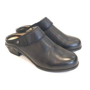Ariat women's clog slip on black leather 7.5 B